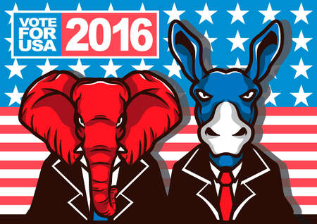 republican party: USA presidential election poster