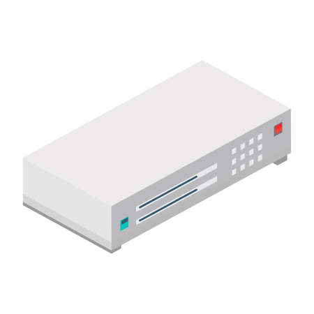 dvd player: Isometric dvd player