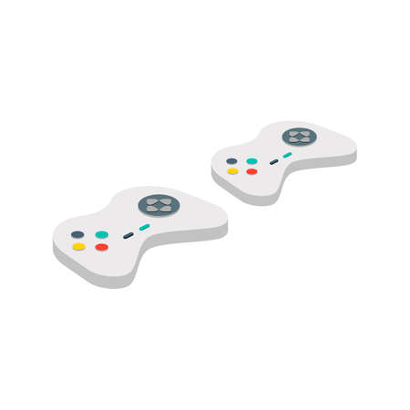 controller: Isometric game controller Illustration