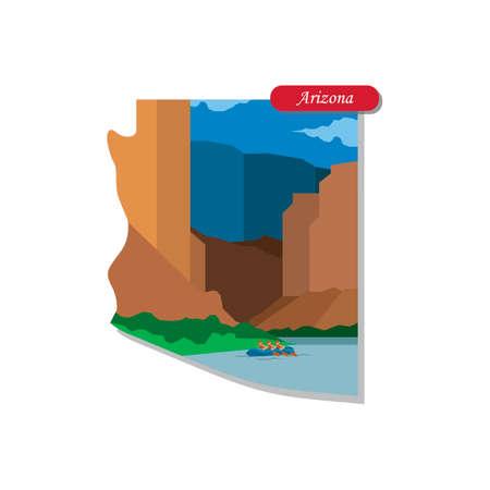 grand canyon: Arizona state map