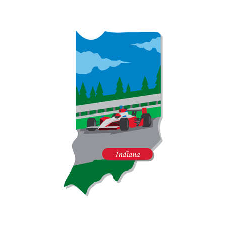 indiana: Indiana state map