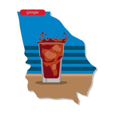 coke: Georgia state map