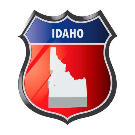 idaho: Idaho state Illustration