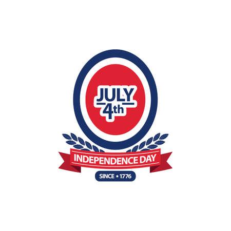 seventeen: Independence day label Illustration