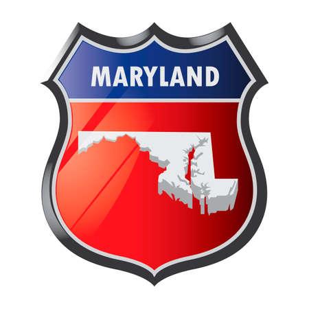 maryland: Maryland state shield