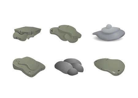 Isometric set of rocks