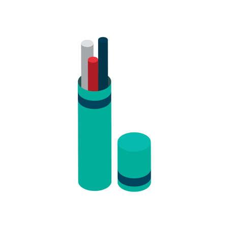 pen holder: Isometric pen holder