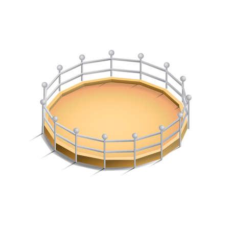 encircle: Zoo animal habitat Illustration