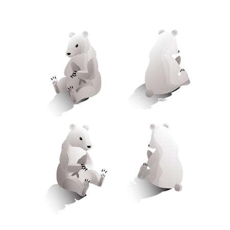 backview: Isometric polar bears