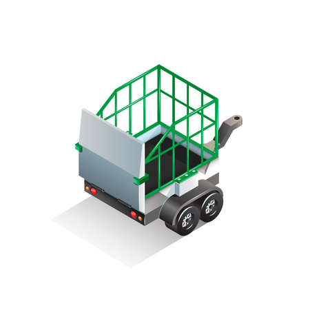 trolley: Isometric animal cage trolley