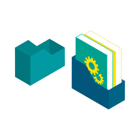 book case: Isometric books and book holder