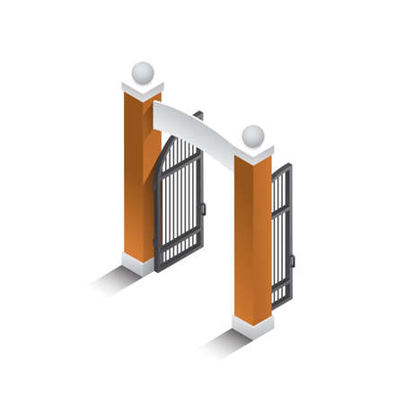 main entrance: Isometric gate