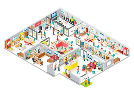 Isometric office Stock fotó - 45477932