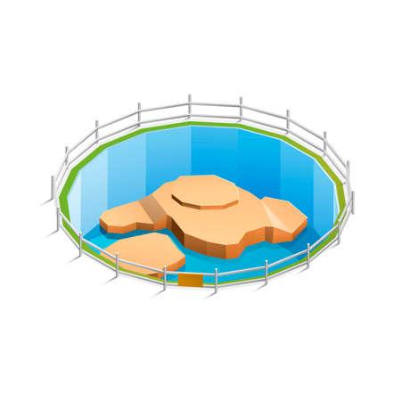 paling: Zoo animal habitat Illustration