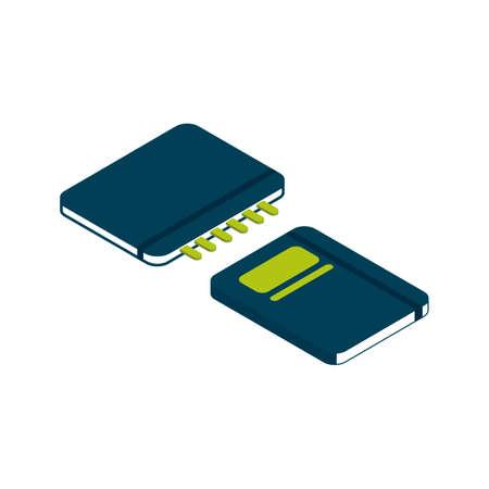 diary: Isometric diary Illustration
