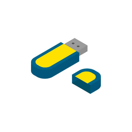 flash drive: Isometric usb flash drive