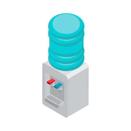 Isometric water dispenser Иллюстрация