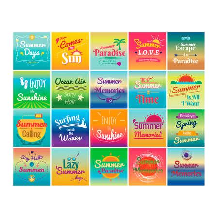 Set of summer holiday designs