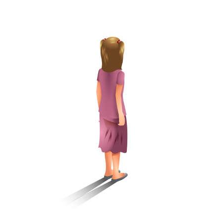 backview: Isometric girl