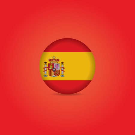 spain flag: spain flag badge Illustration