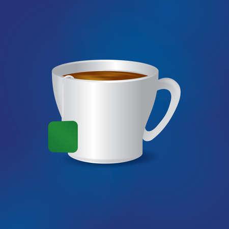 hot cup: teacup Illustration