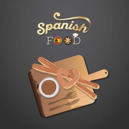 spanish food: spanish food Illustration
