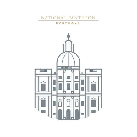 pantheon: national pantheon Illustration