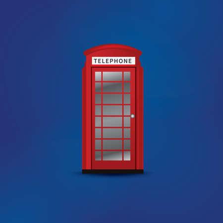 telephone: telephone box Illustration