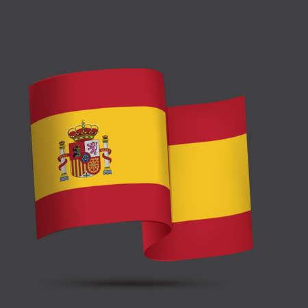 spain flag: spain flag Illustration