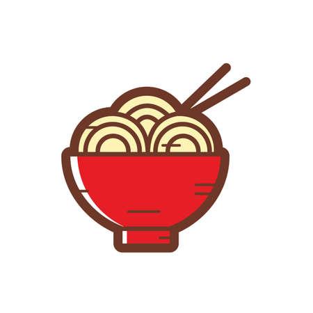 noodles: noodles bowl Illustration