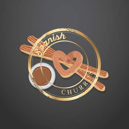spanish food: churros wallpaper Illustration