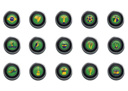 sports jersey: brazil icons collection Illustration