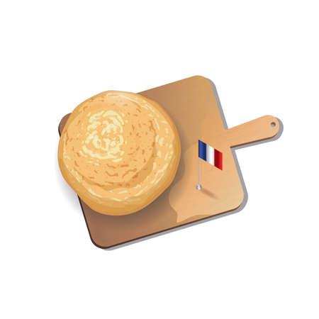 pan frances: pan francés con tabla de cortar
