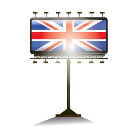kingdom: united kingdom flag billboard