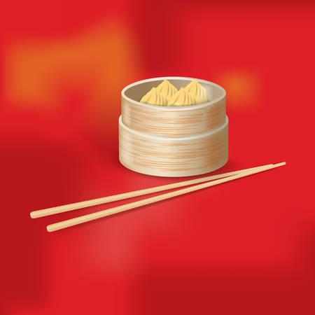 bamboo stick: dumplings