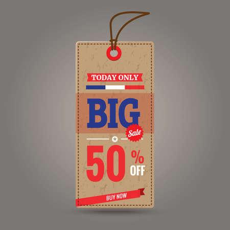 big sale: big sale tag