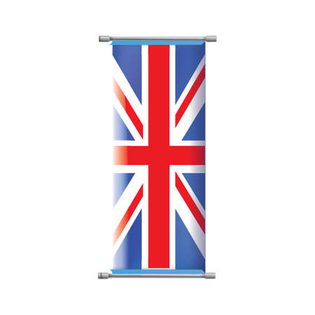 of the united kingdom: united kingdom flag banner Illustration