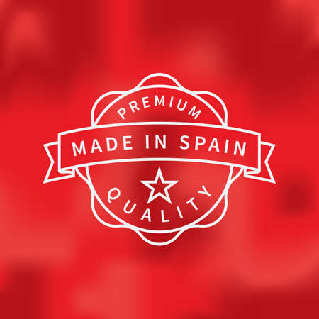 made in spain: made in spain label Illustration