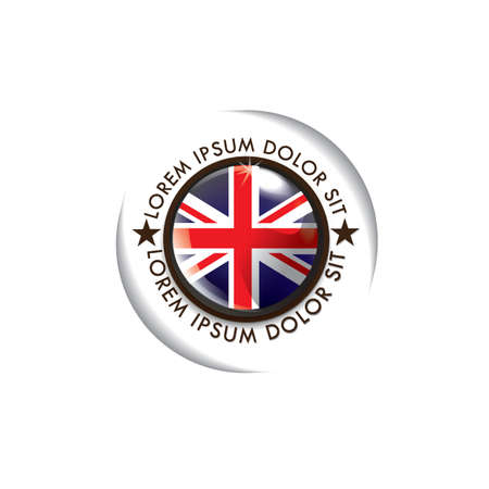 of the united kingdom: united kingdom flag label