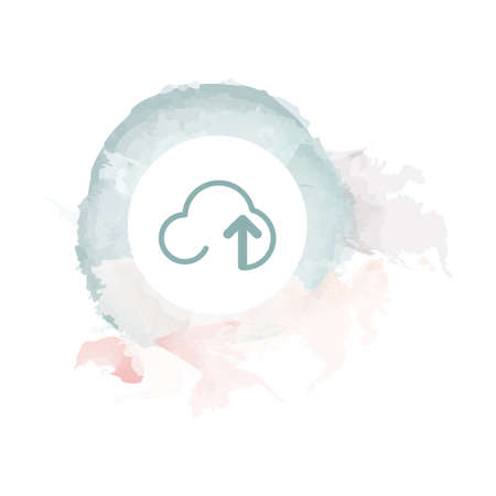 upload: cloud upload icon Illustration
