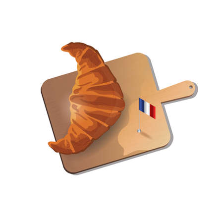 directly above: croissant with cutting board