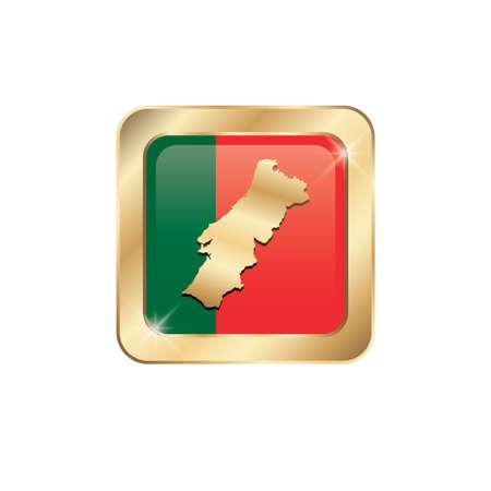 portugal flag: portugal flag map Illustration