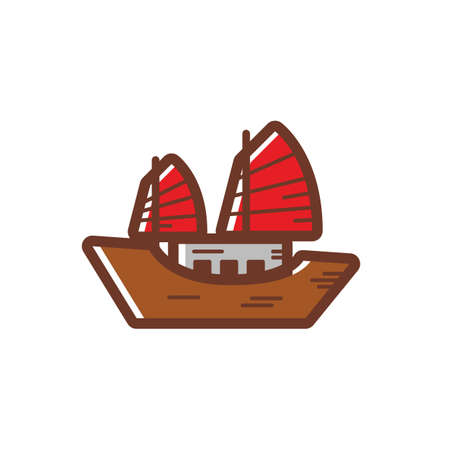 junk boat Stock Vector - 49725538