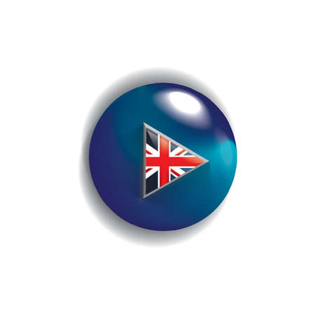 flag button: united kingdom flag button