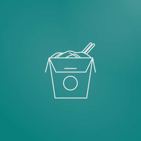 chinese food container: chinese takeaway box Illustration