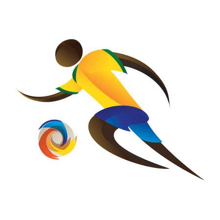 footballer: brazil footballer Illustration