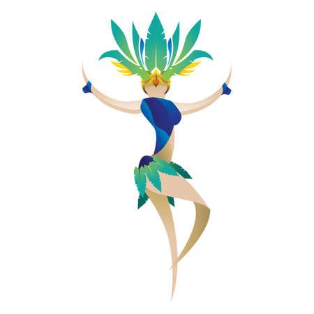festive occasions: samba dancer