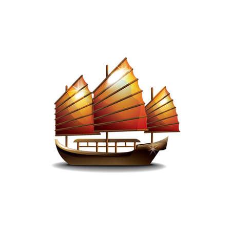 junk boat Stock Vector - 49725626
