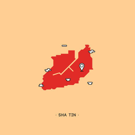 tin: sha tin map Illustration