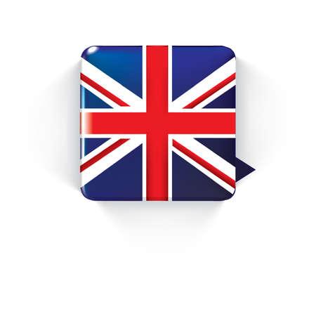 united kingdom: united kingdom flag speech bubble